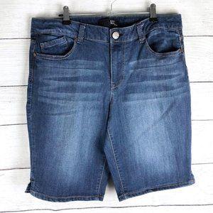 1822 Denim | Dark Wash Classic Bermuda Shorts